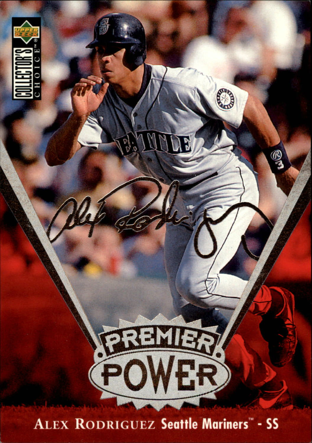 1997 Collector's Choice Premier Power Jumbos #PP18 Alex Rodriguez