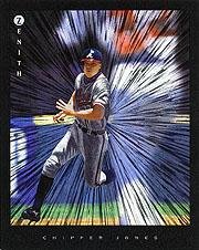1997 Zenith 8 x 10 Dufex #14 Chipper Jones