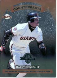 1997 Donruss Limited Exposure Non-Glossy #123 B.Bonds/Q.McCracken C