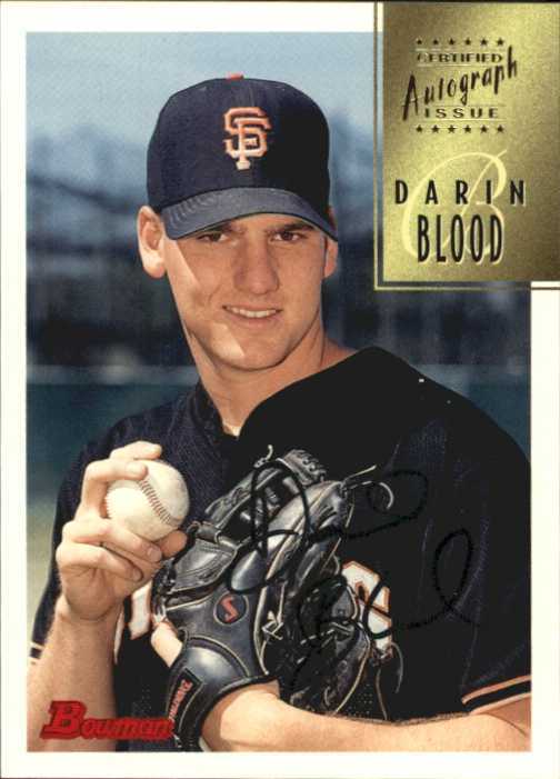 1997 Bowman Certified Black Ink Autographs #CA6 Darin Blood