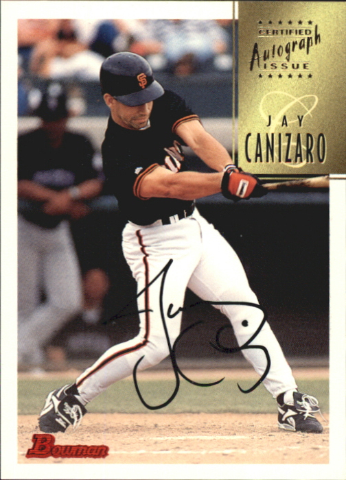 1997 Bowman Certified Black Ink Autographs #CA12 Jay Canizaro