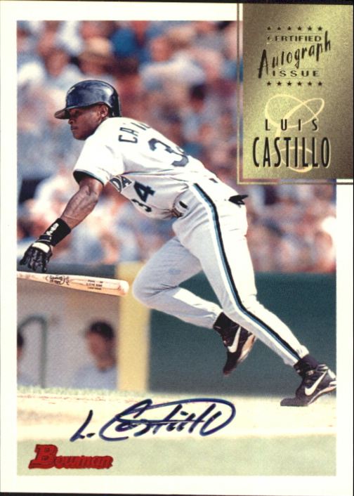 1997 Bowman Certified Black Ink Autographs #CA13 Luis Castillo