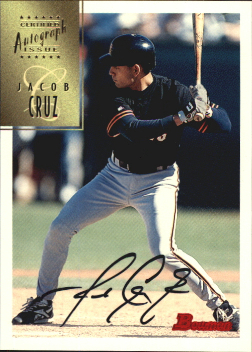 1997 Bowman Certified Black Ink Autographs #CA17 Jacob Cruz
