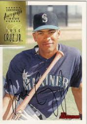 1997 Bowman Certified Black Ink Autographs #CA18 Jose Cruz Jr.