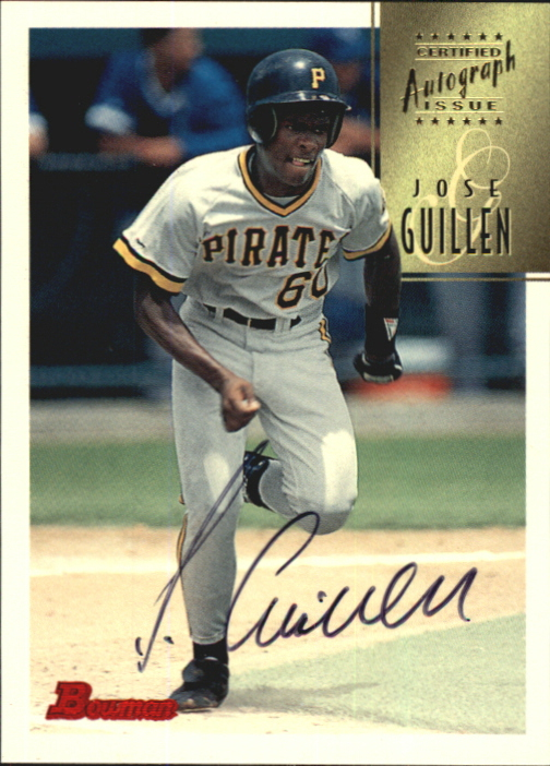 1997 Bowman Certified Black Ink Autographs #CA34 Jose Guillen