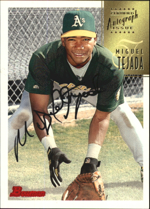 1997 Bowman Certified Black Ink Autographs #CA78 Miguel Tejada
