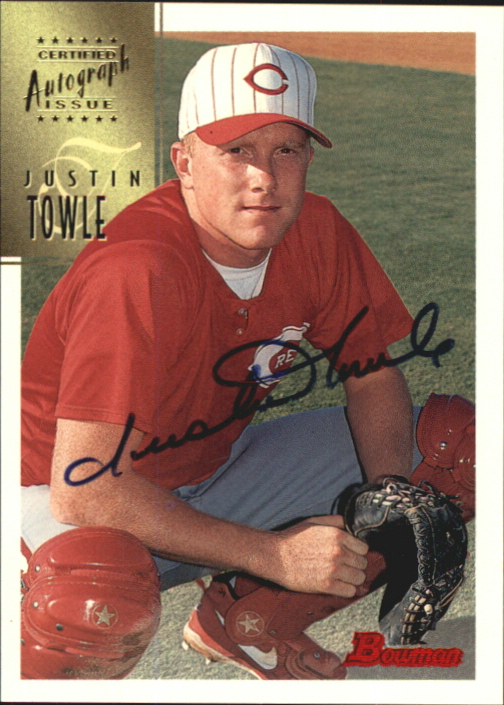 1997 Bowman Certified Black Ink Autographs #CA80 Justin Towle