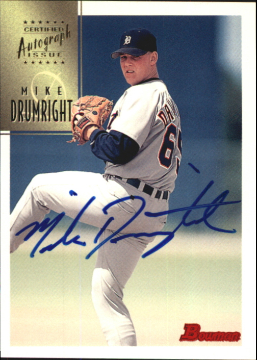 1997 Bowman Certified Blue Ink Autographs #CA21 Mike Drumright