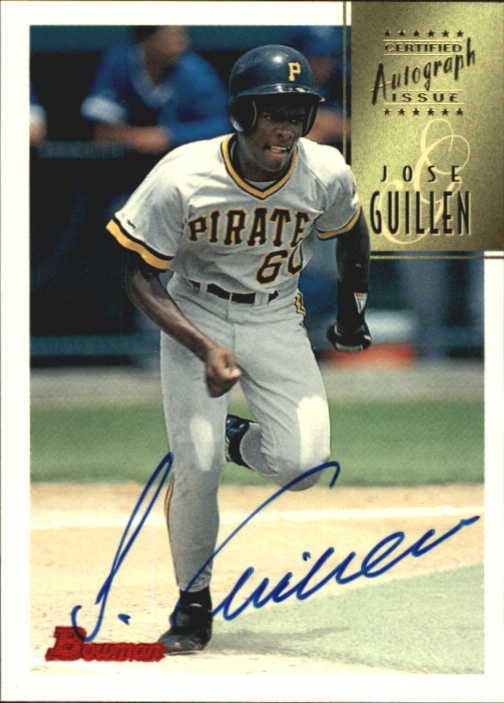1997 Bowman Certified Blue Ink Autographs #CA34 Jose Guillen