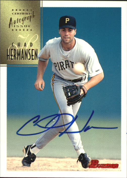 1997 Bowman Certified Blue Ink Autographs #CA37 Chad Hermansen