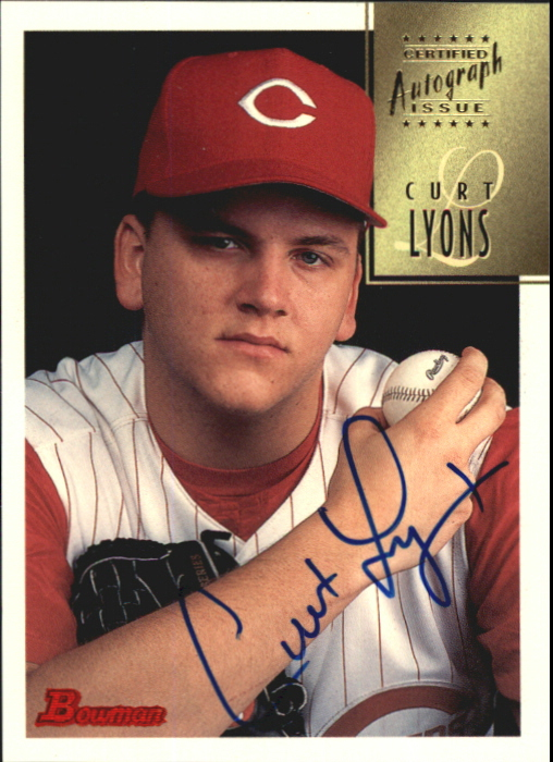 1997 Bowman Certified Blue Ink Autographs #CA50 Curt Lyons