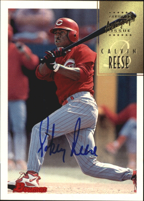 1997 Bowman Certified Blue Ink Autographs #CA64 Pokey Reese