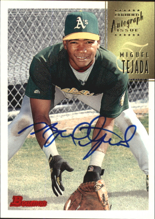 1997 Bowman Certified Blue Ink Autographs #CA78 Miguel Tejada