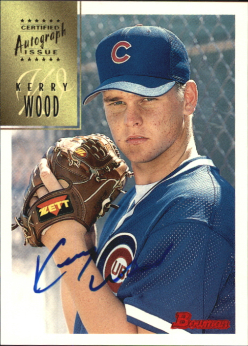 1997 Bowman Certified Blue Ink Autographs #CA86 Kerry Wood