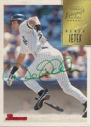 1997 Bowman Certified Green Ink Jeter Autograph #CA41 Derek Jeter