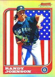 1997 Bowman Chrome International Refractors #55 Randy Johnson