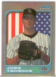 1997 Bowman Chrome International Refractors #133 John Thomson