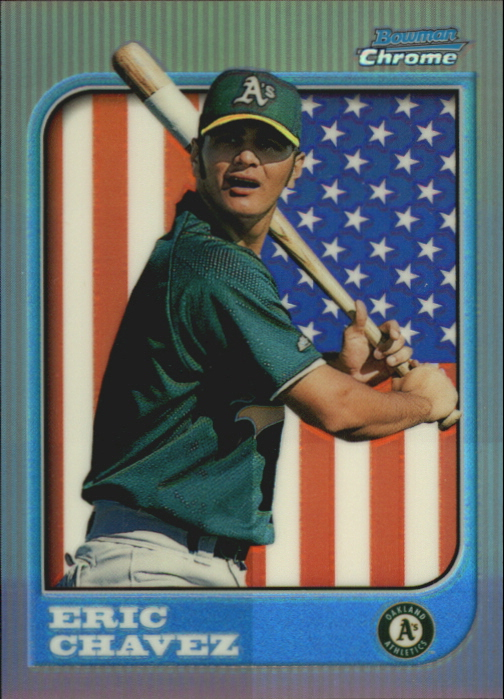 1997 Bowman Chrome International Refractors #192 Eric Chavez
