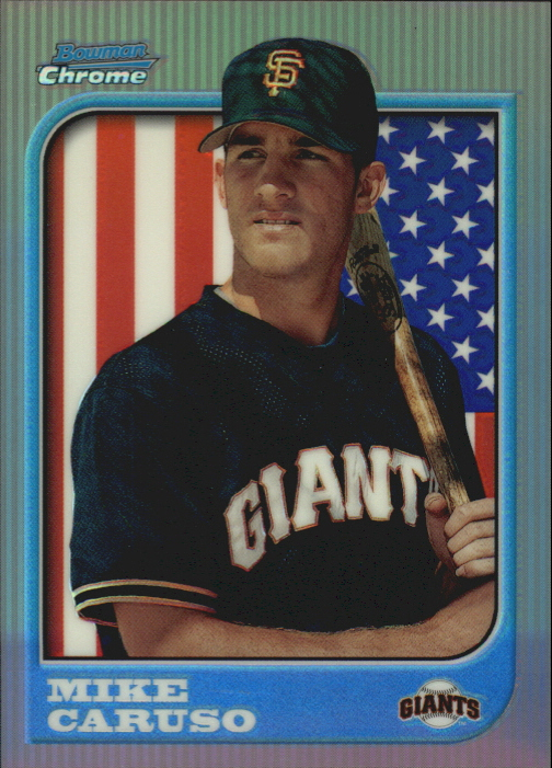 1997 Bowman Chrome International Refractors #211 Mike Caruso