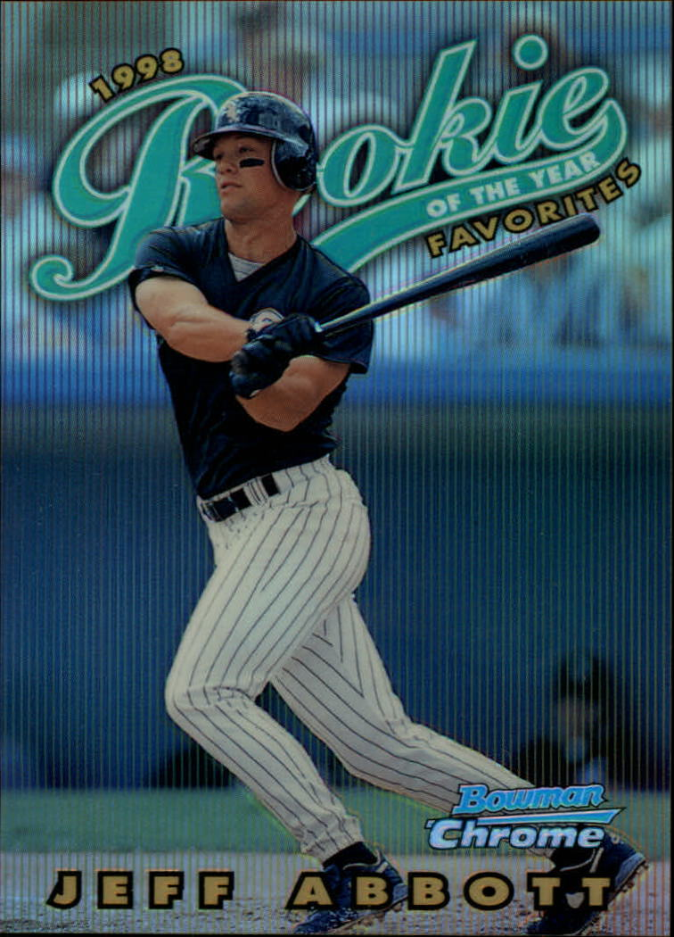 1997 Bowman Chrome 1998 ROY Favorites Refractors #ROY1 Jeff Abbott
