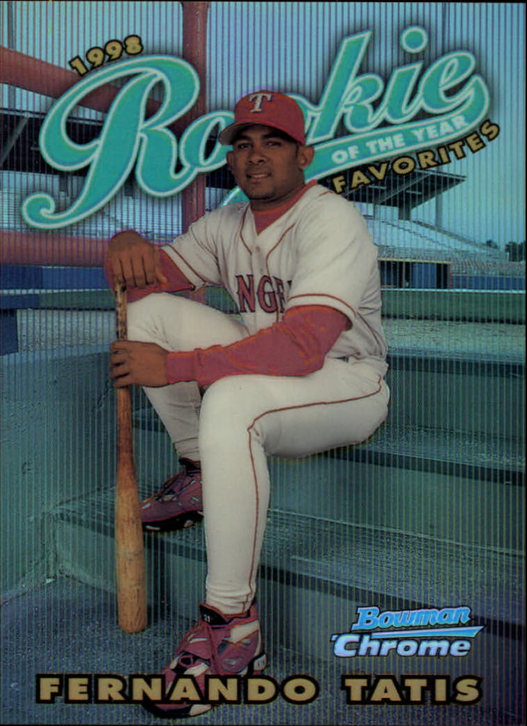 1997 Bowman Chrome 1998 ROY Favorites Refractors #ROY15 Fernando Tatis