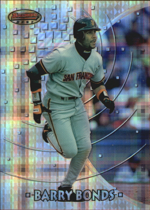 1997 Bowman's Best Preview Atomic Refractor #3 Barry Bonds