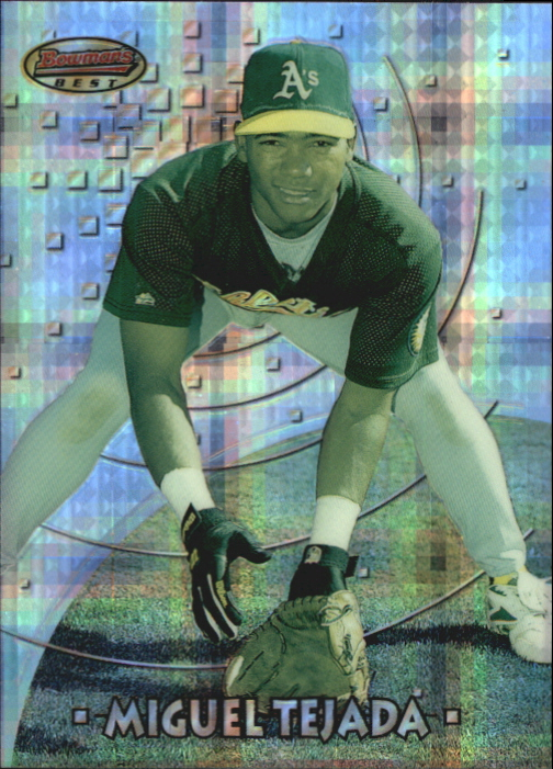 1997 Bowman's Best Preview Atomic Refractor #18 Miguel Tejada