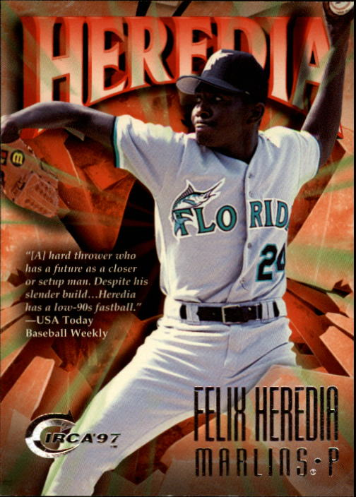 1997 Circa #55 Felix Heredia RC