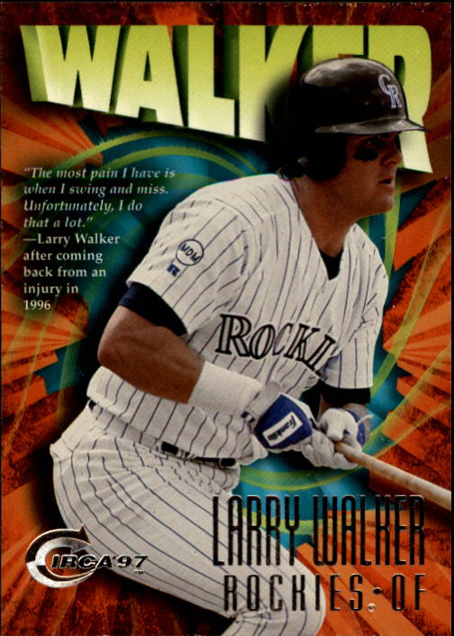 1997 Circa #377 Larry Walker