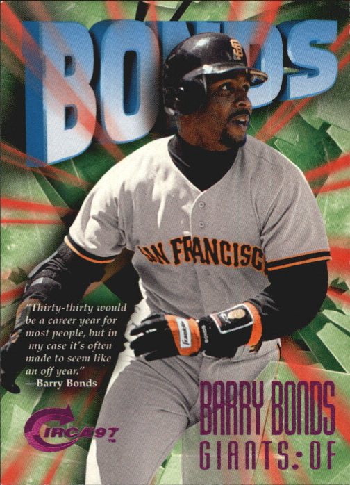 1997 Circa Rave #25 Barry Bonds