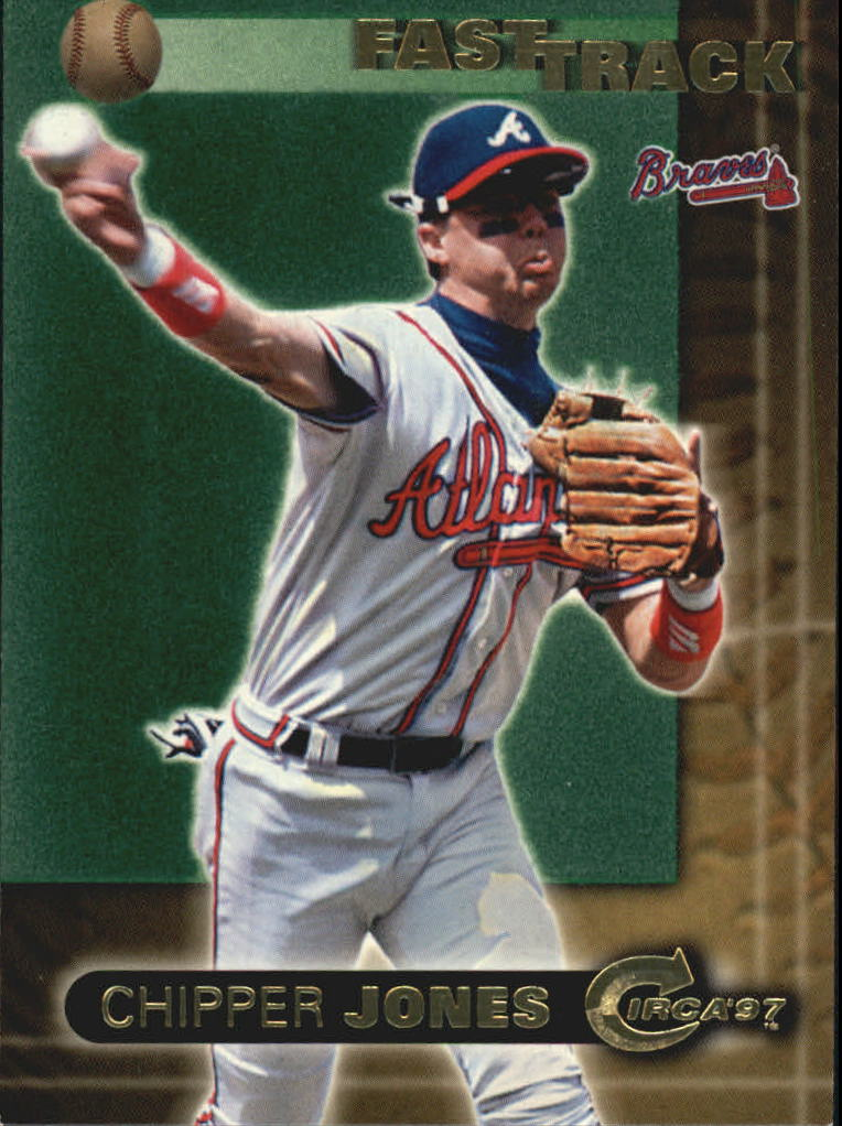 1997 Circa Fast Track #5 Chipper Jones