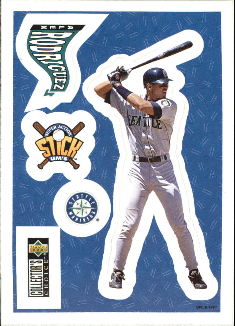 1997 Collector's Choice Stick'Ums #3 Alex Rodriguez