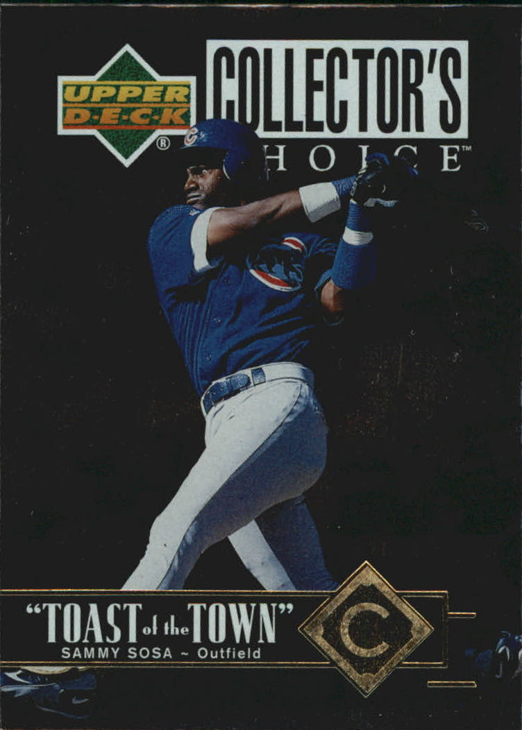 1997 Collector's Choice Toast of the Town #T9 Sammy Sosa