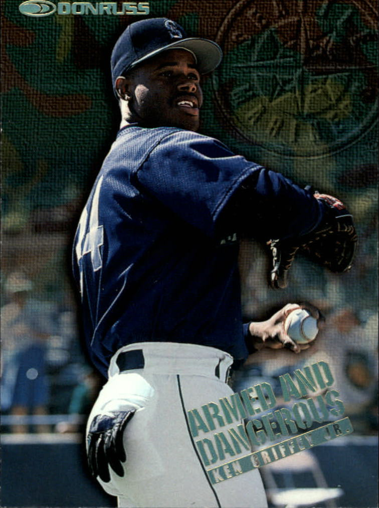 1997 Donruss Armed and Dangerous #1 Ken Griffey Jr.