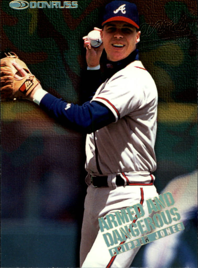 1997 Donruss Armed and Dangerous #3 Chipper Jones