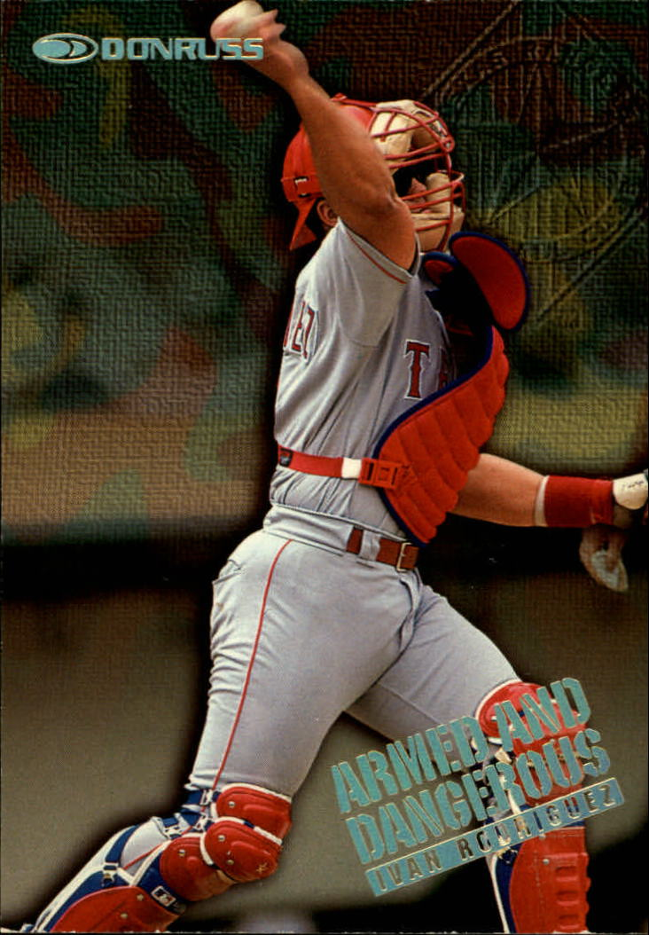 1997 Donruss Armed and Dangerous #4 Ivan Rodriguez