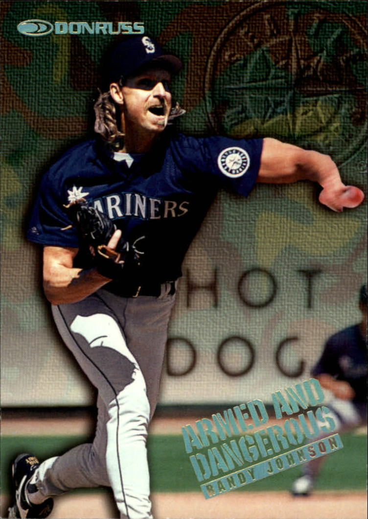 1997 Donruss Armed and Dangerous #5 Randy Johnson
