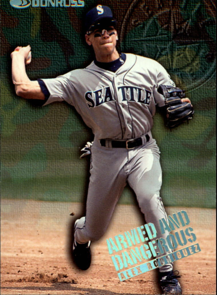 1997 Donruss Armed and Dangerous #6 Alex Rodriguez