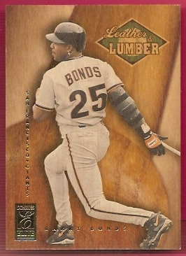 1997 Donruss Elite Leather and Lumber #7 Barry Bonds
