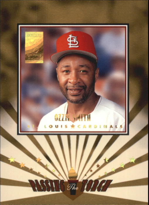 1997 Donruss Elite Passing the Torch #10 Ozzie Smith