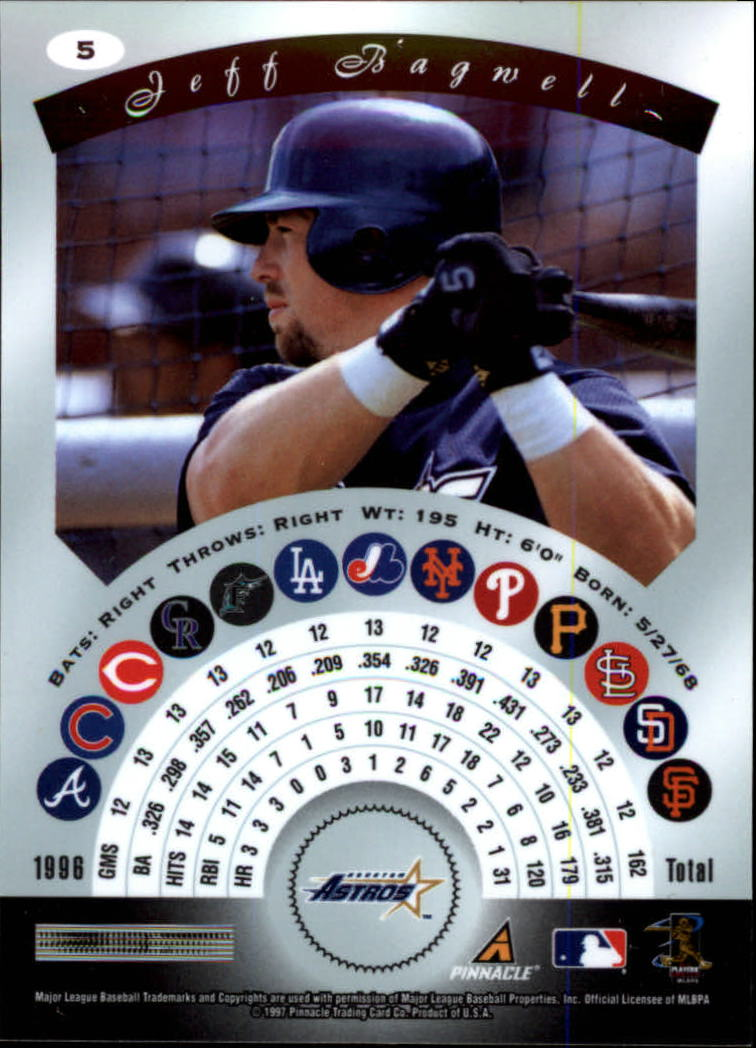 1997 Pinnacle Certified #5 Jeff Bagwell back image