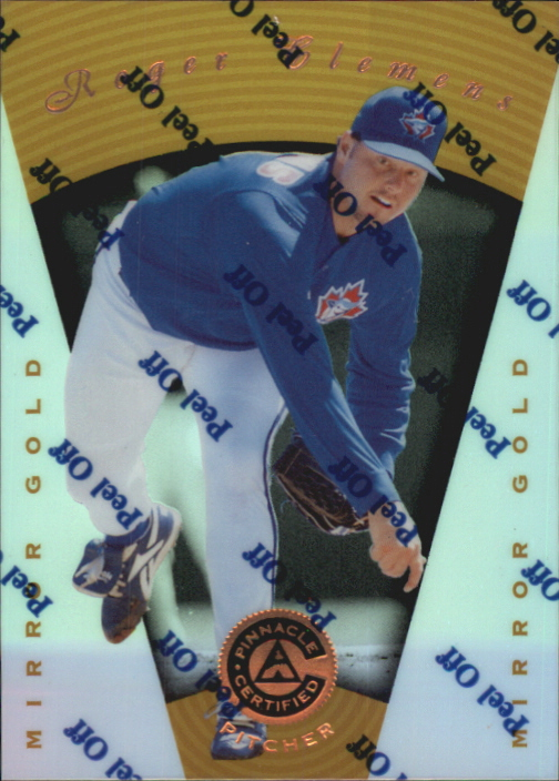 1997 Pinnacle Certified Mirror Gold #39 Roger Clemens