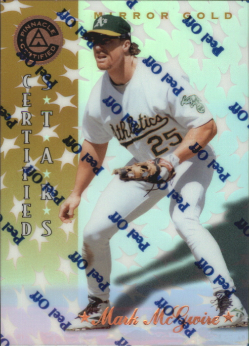 1997 Pinnacle Certified Mirror Gold #139 Mark McGwire CERT
