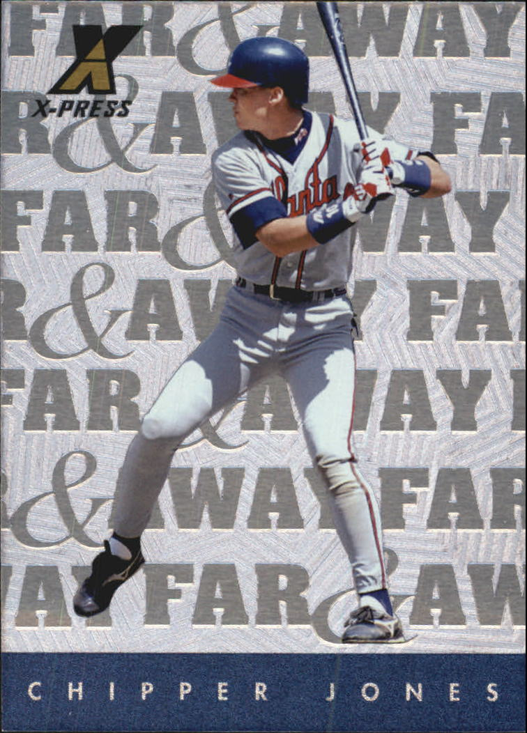 1997 Pinnacle X-Press Far and Away #9 Chipper Jones