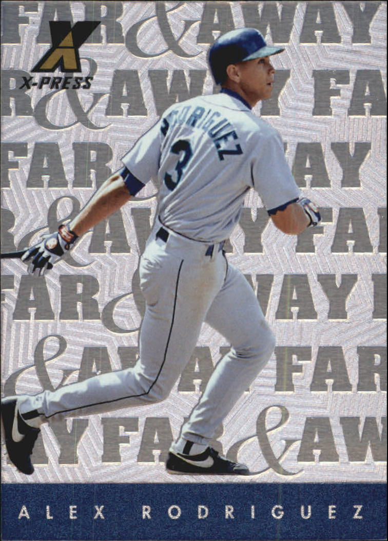 1997 Pinnacle X-Press Far and Away #18 Alex Rodriguez