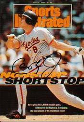 1997 Sports Illustrated Autographed Mini-Covers #2 Cal Ripken
