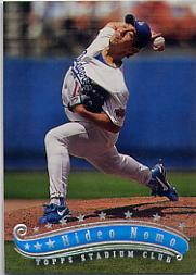 1997 Stadium Club #212 Hideo Nomo
