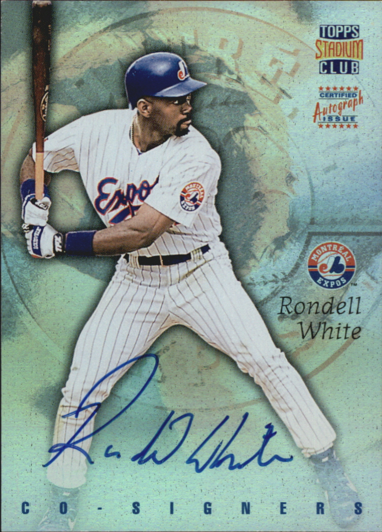 1997 Stadium Club Co-Signers #CO9 Rondell White/Marty Cordova