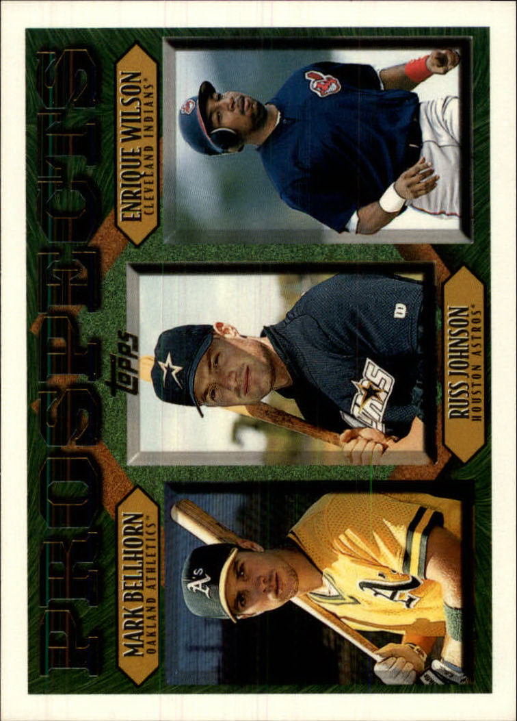 1997 Topps #487 M.Bellhorn/R.Johnson/E.Wilson