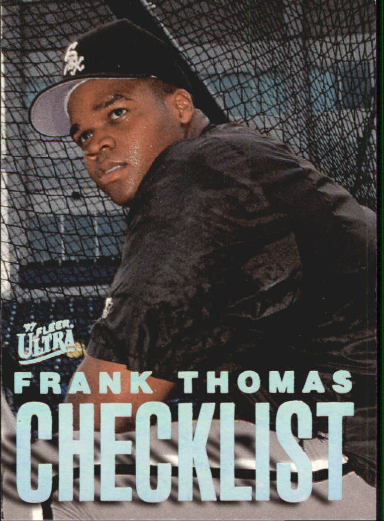 1997 Ultra Checklists #B3 Frank Thomas